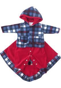 Saída Maternidade Enxoval Romualdo Fofinho Azul E Vermelha