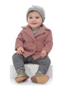 Casaco Lã Batida Infantil Up Baby Feminino - Feminino-Rosa