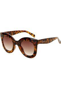 Óculos De Sol Marielas Fy82001 Feminino - Feminino-Marrom