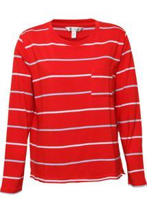 Camiseta Banana Republic Cotton Crew-Neck Vermelha