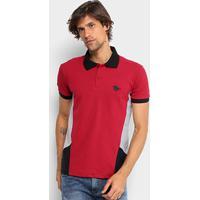 85ee5576f3 Camisa Polo Em Piquet Rg 518 Com Recortes Masculina - Masculino-Vermelho