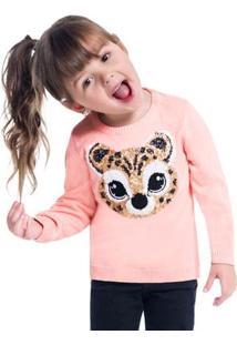 Casaco Infantil Feminino Kyly Tricot 207114.4372.4
