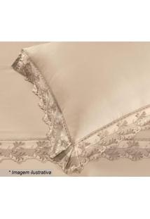 Fronha Cristal Com Renda Heros- Pérola- 70X50Cm-Buettner
