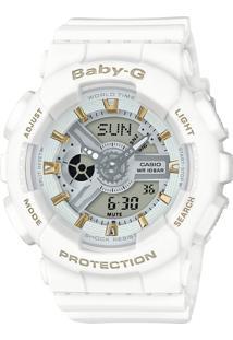 Relógio Feminino Casio G-Shock Baby-G Analógico Digital Ba-110Ga-7A1Dr Branco