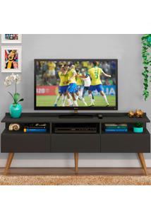 Rack Para Tv Até 65 Polegadas 3 Portas Trust Grafite - Pnr Móveis