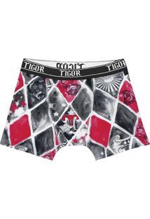 Kit De Cuecas Boxer Tigor® - Branco & Pink - 3Pçslilica Ripilica E Tigor T. Tigre