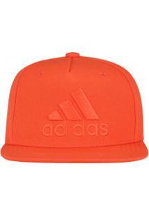 Boné Aba Reta Adidas Flat Logo - Snapback - Adulto - Laranja Escuro 7a01d8bbc2c