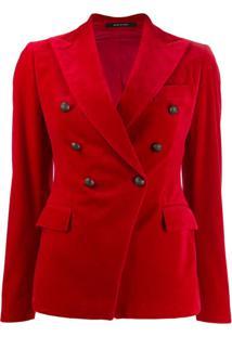 Tagliatore Jalicya Double Breasted Military Jacket - Vermelho