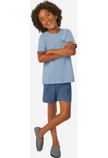 Pijama Azul Claro Vespa Infantil