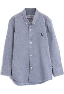Camisa Reserva Mini Menino Liso Azul - Azul - Menino - Algodã£O - Dafiti
