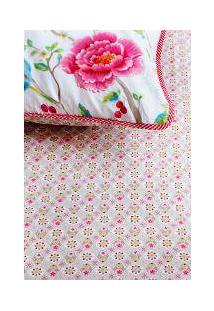 Lençol C/ Elástico Star Flowers Cáqui /Rosa King - Pip Studio