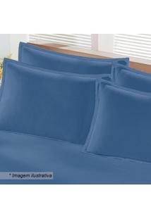 Fronha Em Malha- Azul- 70X50Cm- Buettnerbuettner