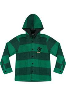 Camisa Xadrez Aveludada Ser Garoto Verde