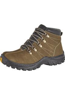 Bota Adventure Couro Nobuck Difranca Boots 1011 Oliva