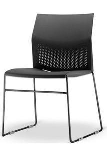 Cadeira Connect Base Fixa Preta - 53760 - Sun House