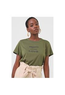 Camiseta Colcci Radiate Love Verde