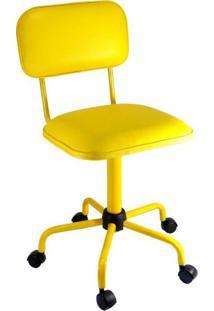 Cadeira De Escritório Secretária Coloramarela