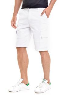 Bermuda Sarja Lemier Collection Cargo Branca - Branco - Masculino - Algodã£O - Dafiti
