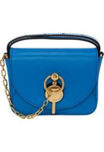 Jw Anderson Bolsa Pochete Com Detalhe De Corrente - Azul