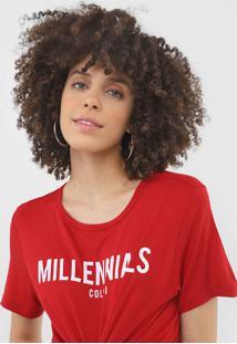 Camiseta Colcci Millennials Vermelha - Vermelho - Feminino - Viscose - Dafiti