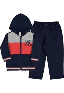 Conjunto Tijolo-Bebê Menino-Moletom-35674-187 - Masculino-Vermelho