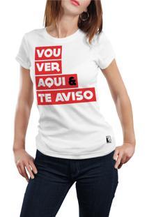 Camiseta Hunter Vou Ver E Te Aviso Branca