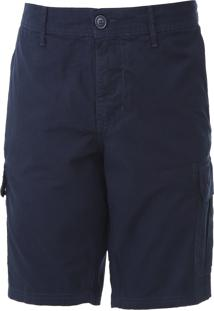 Bermuda Sarja Colcci Cargo Color Azul-Marinho