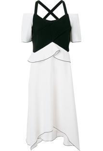 Proenza Schouler Vestido Assimétrico - Branco