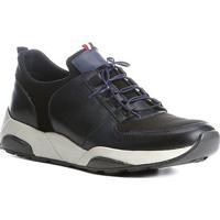 363175caf Tênis Couro Shoestock Jogging Neoprene Masculino - Masculino-Azul+Branco