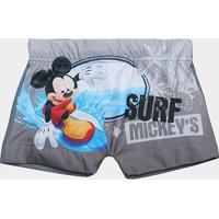 bccabeeb2a Sunga Infantil Tip Top Mickey - Masculino-Cinza