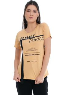 T-Shirt Pkd Concept Eco Female Power Amarela