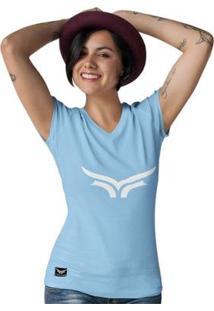 Camiseta Gola V Cellos Bull Classic Premium Feminina - Feminino