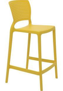 Cadeira Alta Safira- Amarela- 93,5X48X47Cm- Tramtramontina