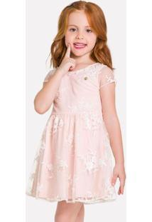 Vestido Infantil Milon Tule Bordado 11940.40084.4