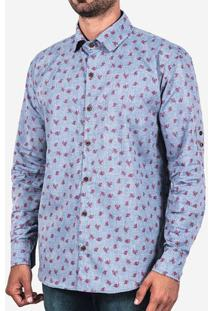 Camisa Jeans Estampada 0246