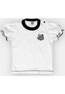 Camiseta Santos Infantil Baby Look Cores Clube - Feminino