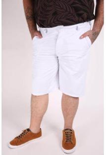 Bermuda Kauê Plus Size Color Masculina - Masculino-Branco