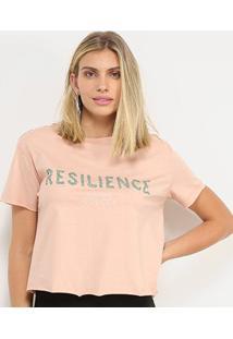 Camiseta Colcci Resilience Feminina - Feminino-Rosa Escuro