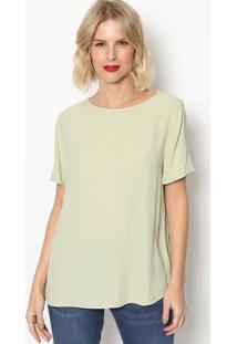 Camiseta Lisa Com Tag- Verde Claro- Forumforum