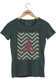 Camiseta Forseti Estonada Meditação Verde