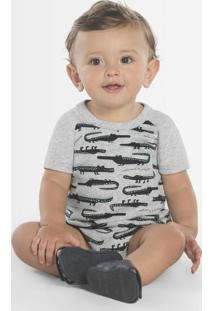 Body Infantil Masculino Baby Cinza