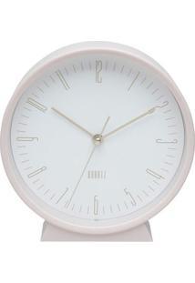 Relógio De Mesa Classical Clean Style- Rosa Claro & Doururban