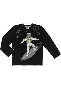 Camiseta Infantil Rovitex Manga Longa Menino Preto - 4