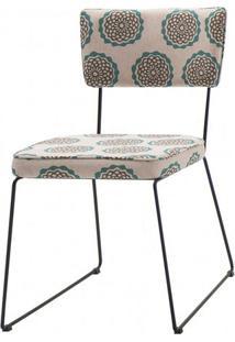 Cadeira Milan Estampa Cerc Base Preta - 49682 - Sun House