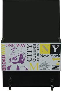 """Organizador Porta Correspondãªncias """"New York""""- Preto & Bkapos"""