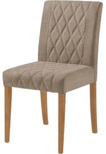 Cadeira Menta Assento Cor Bege Com Base Nogal - 46448 Sun House