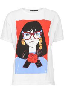 Camiseta Fiveblu Foto Branca