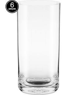 Conjunto 6Pçs Copos Crystal Long Drink 450Ml Branco