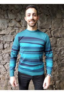 Blusa G'Dom Design Azul E Marinho