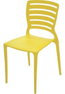 Cadeira Sofia Vazado Horizontal Polipropileno Amarelo -18743 - Sun House